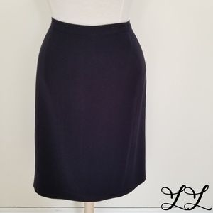 Kasper & Co Skirt Navy Blue Pencil Straight Suit